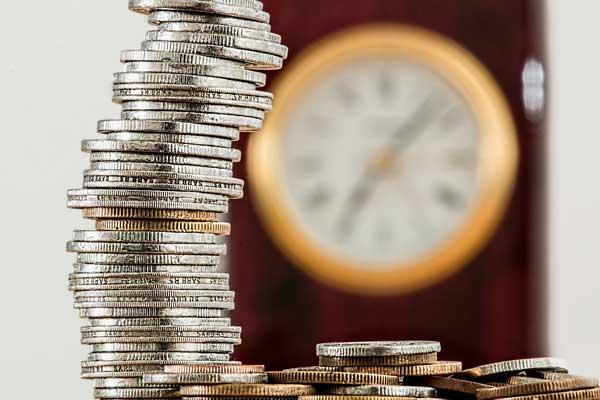 Money pile representing someone's pension