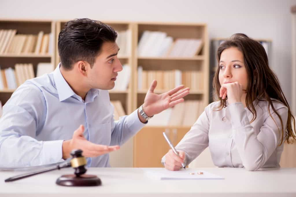Couple working on a separation agreement - Galbraith Family Law