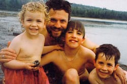 Brian and his boys before separation - parenting lessons