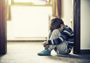 Child in a abuse crisis situation