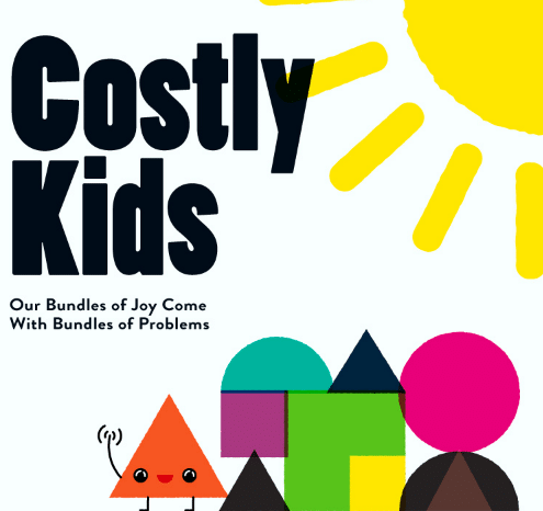 Costly Kids infographic