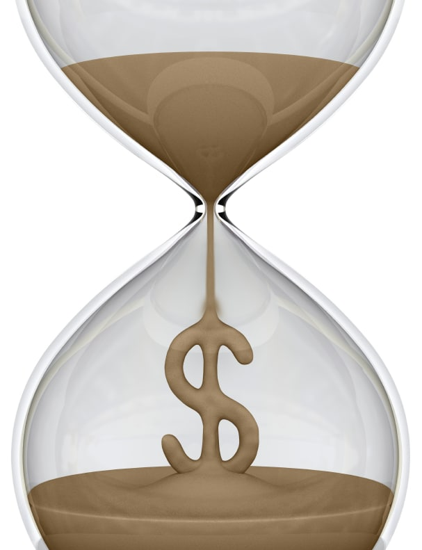 Hour glass counting time to reduce child support