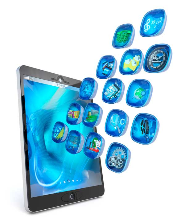 Tablet with apps for divorce