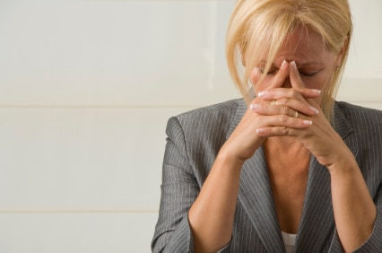 Depressed woman from divorce