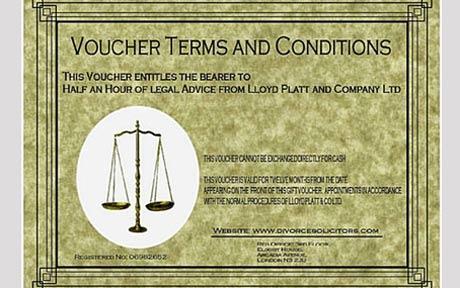 Divorce Gift Certificates