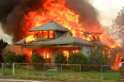 House unfire but owner has divorce insurance