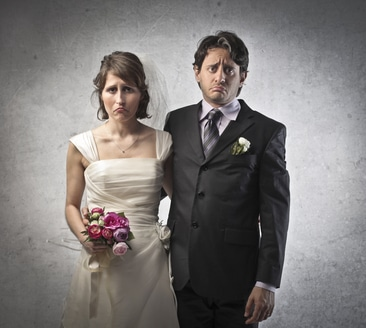 Couple getting into a doomed marriage