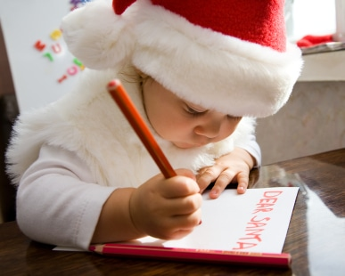Child on first Christmas after parents divorce