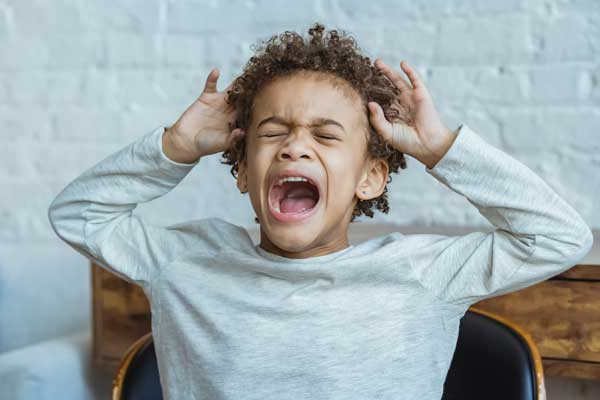 Child stressed out from parent's divorce