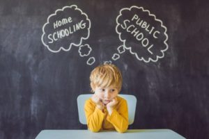 Child wondering if they'll go to school or be homeschooled