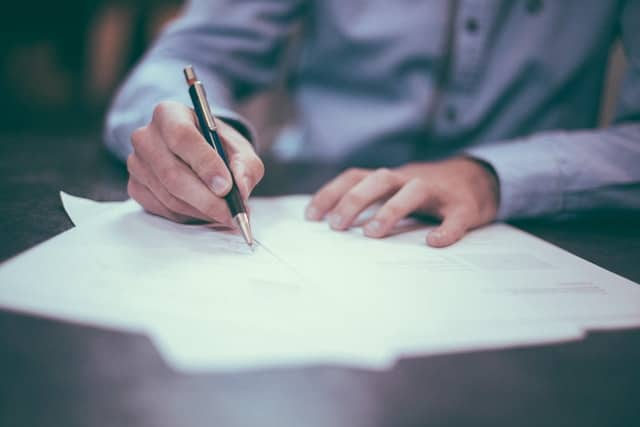 person signing a separation agreement
