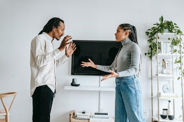 couple arguing a divorce lawyer