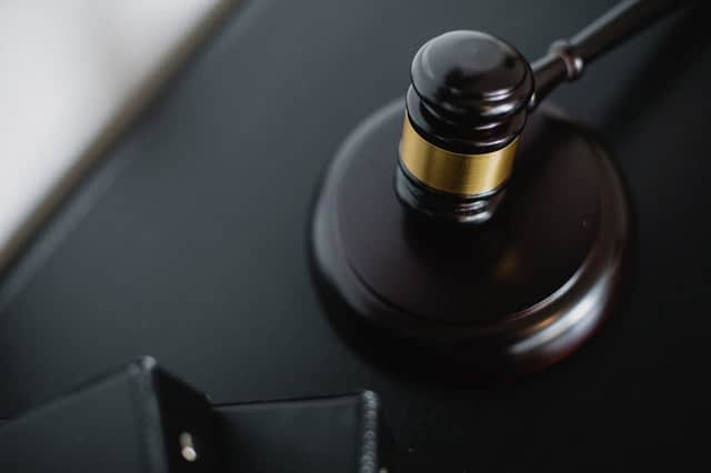 close up of gavel in family court